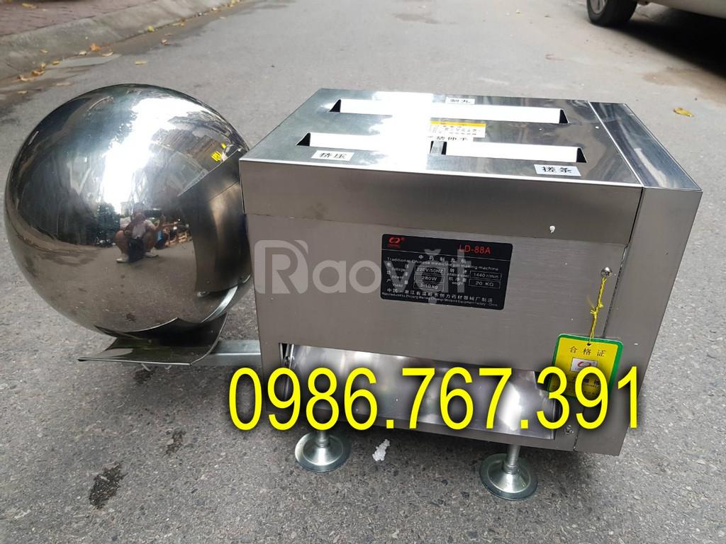 Máy làm bánh nhãn, máy vo viên hoàn đông y 8-10kg/h (ảnh 1)