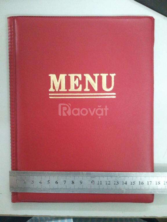 Menu nhà hàng, menu bìa da và giả da