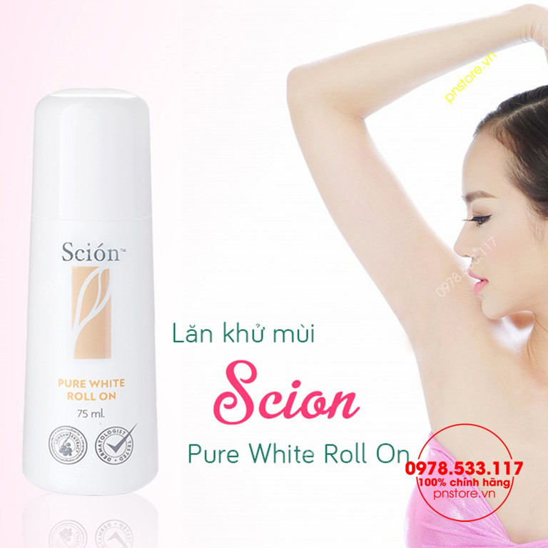 Lăn khử mùi Mỹ Scion Nuskin Pure White Roll On 75ml