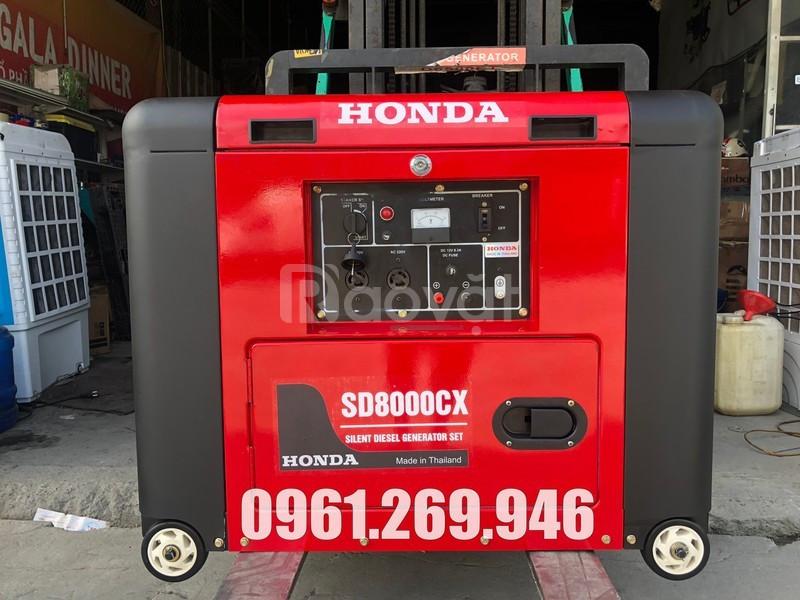 Máy phát điện 6kw Honda SD8000CX chạy dầu hàng nhập khẩu