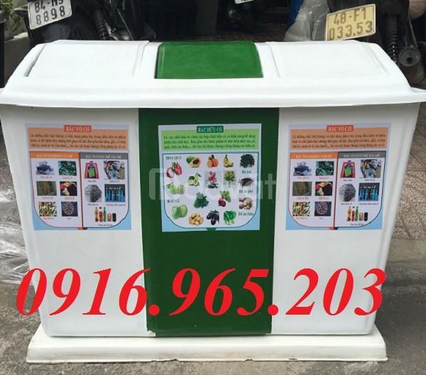 Cung cấp thùng đựng rác phân chia rác thải tại nguồn 2, 3 ngăn