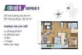Bán căn hộ 2 ngủ ban công Tây Nam, giá 2,2 tỷ.