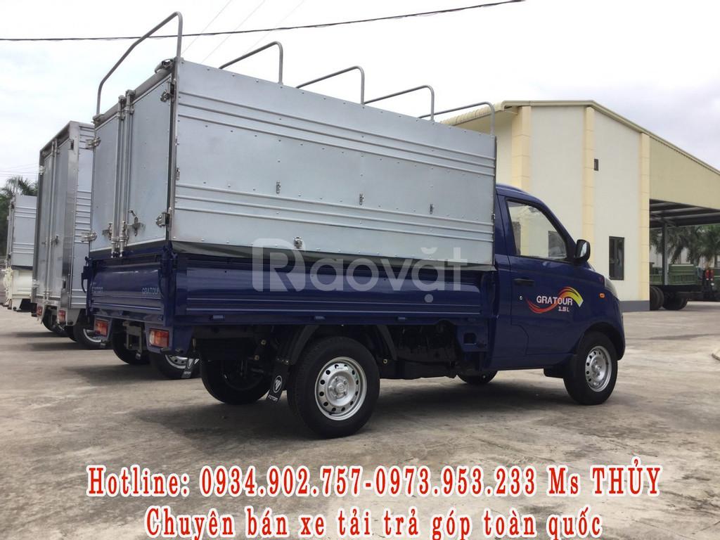 Xe tải Foton990kg thùng bạt, bán trả góp