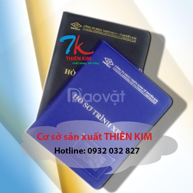 Xưởng may bìa trình ký da theo yêu cầu giá rẻ tại TPHCM