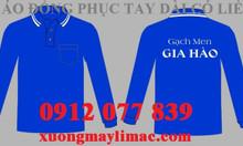 Áo thun tay dài đồng phục gạch men, cửa hàng VLXD