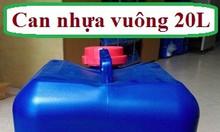 Can nhựa vuông 20L ,can nhựa đựng hóa chất, can nhựa đựng dung môi