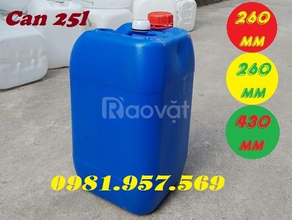 Dụng cụ đựng hóa chất, can nhựa HPDE, can nhựa 25l