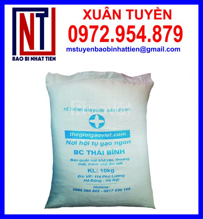 Bao PP đựng gạo, bao bì gạo 10kg giá rẻ