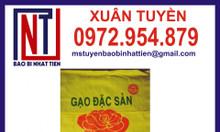 Bao bì gạo, bao bì gạo 25kg giá rẻ