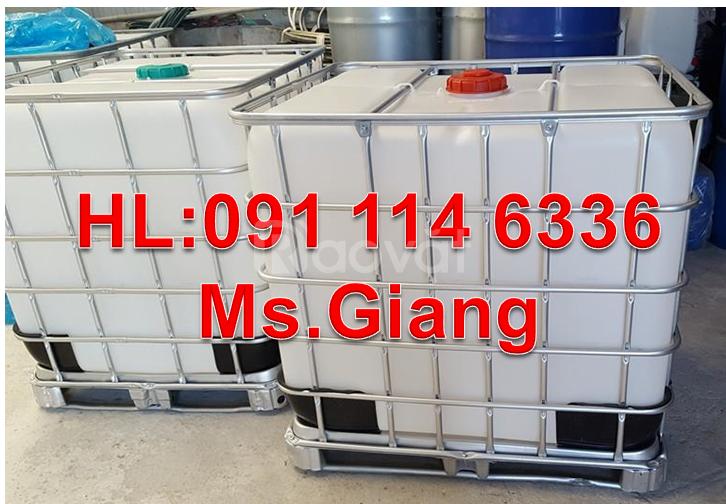 Thùng đựng xăng dầu 1000 lít, thùng nhựa 1000L đựng dung dịch