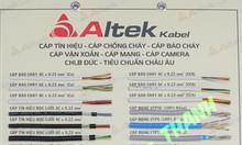 Bảng mẫu cáp tín hiệu Altek Kabel, cáp chống cháy, cáp mạng, cáp xoắn