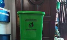 Thùng rác màu xám y tế 20 lít HDPE; thùng rác xám dùng trong bệnh viện