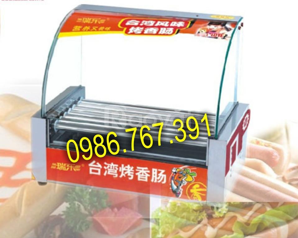 Máy nướng xúc xích, lò nướng xúc xích 7 thanh giá rẻ