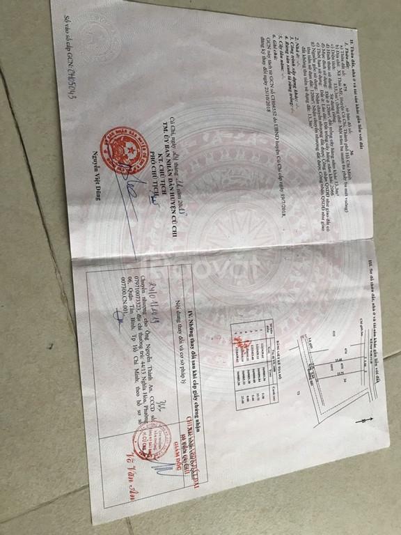 Bán đất giá rẻ 720t/140m2 xã Thái Mỹ huyện Củ Chi SHR.