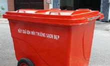 Xe thu gom rác, thùng thu gom rác dung tích 660 lít