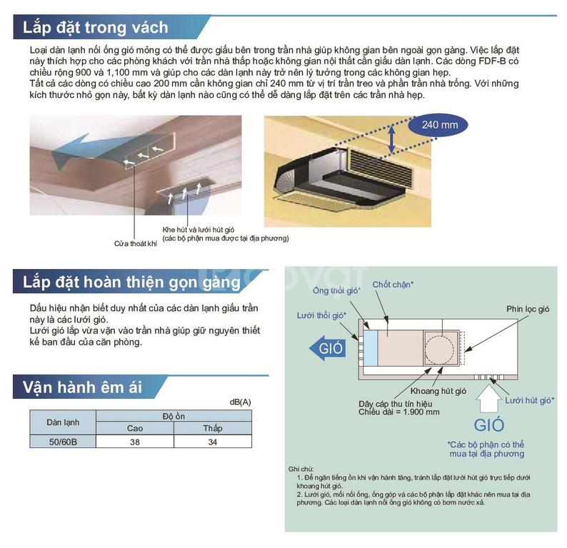 Điều hòa giấu trần Daikin nối ống gió - Dòng AST Thấp/AST Trung Bình