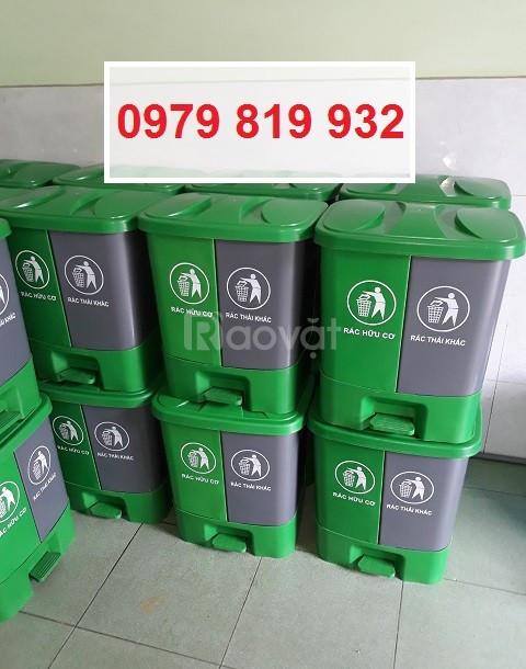 Cung cấp thùng đựng chất thải đạp chân 2 ngăn