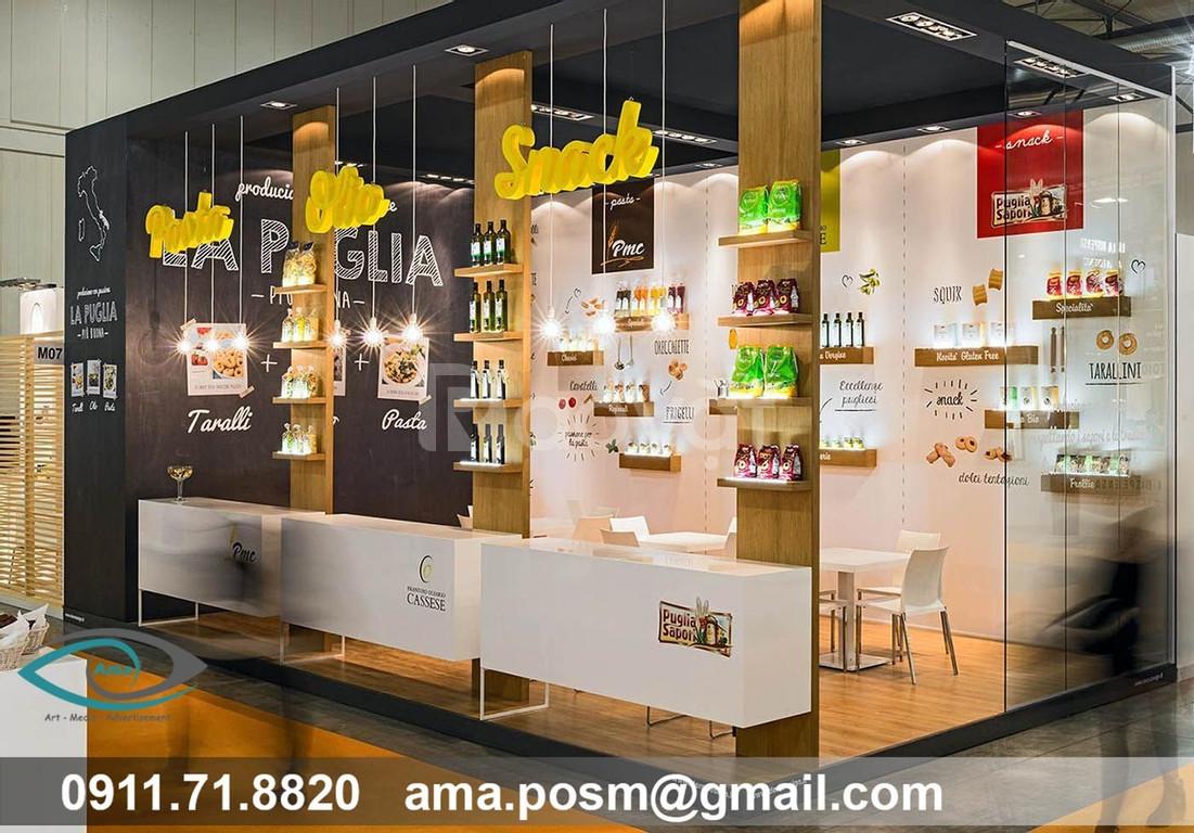 Sản xuất quầy kệ, POSM, Booth trưng bày sản phẩm
