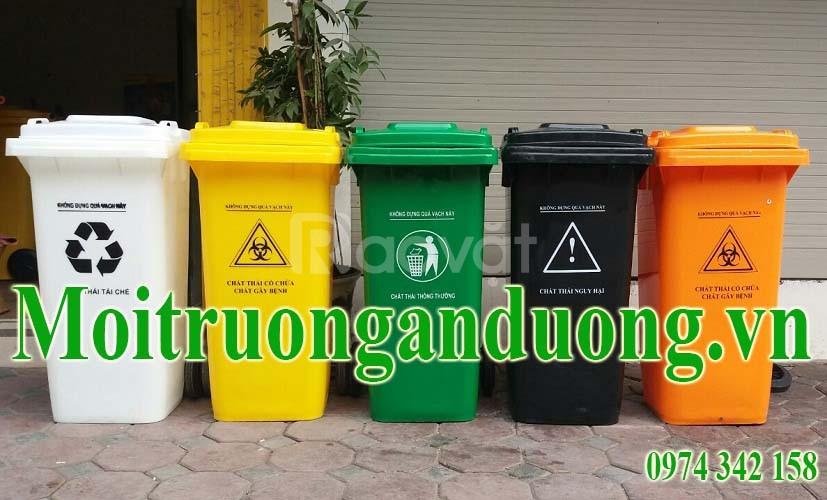 Cung cấp thùng đựng rác nhựa 120 lít có bánh xe giá sập sàn