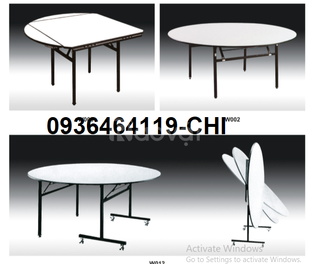 Top 3 mẫu bàn banquet – bàn tròn, chữ chữ nhật phổ biến cho nhà hàng