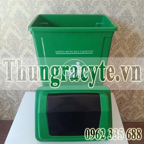 Bán thùng rác nhựa 60L nắp lật