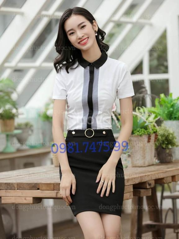 Chuyên may sơ mi nữ đồng phục đẹp, phù hợp với vóc dáng