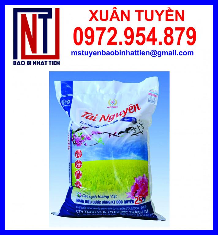Bao đựng gạo 25kg, sản xuất bao bì gạo