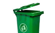 Giá bán thùng rác nhựa dung tích 240 lit có bánh xe và nắp đậy kín