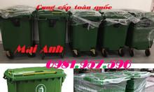 Xe gom rác 660l, xe gom rác chính hãng, xe gom rác nhựa