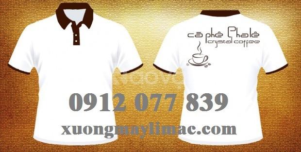 Áo đồng phục cà phê in không tróc