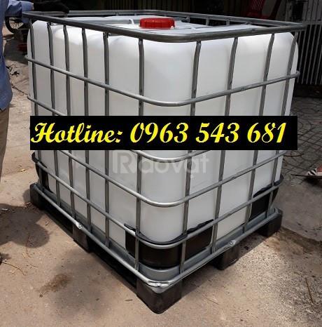 Bồn nhựa 1000 lít thùng nhựa 1000 lít thùng đựng hóa chất 1000 lít