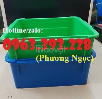 Thùng nhựa đặc A3, hộp nhựa công nghiệp, khay linh kiện