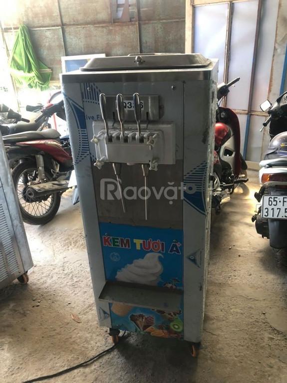 Thanh lý máy làm kem 3 vòi BQ-336 mới 90%, nguyên zin