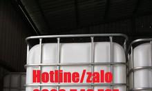 Tank nhựa vuông ibc 1000l, thùng tank ibc 1000l đựng keo công nghiệp