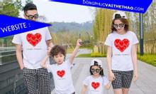 Đồng phục gia đình vải thể thao