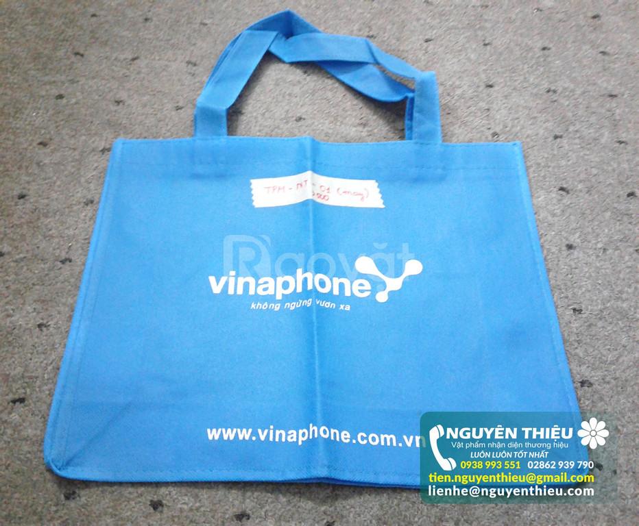 Cơ sở may túi vải in logo quảng cáo giá rẻ, may túi vải giá rẻ