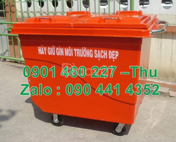 Thùng nhựa 660 lít đựng rác công cộng, thùng rác nhựa 1000 lít HDPE