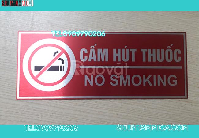 Địa điểm gia công Biển cấm hút thuốc để bàn ở TPHCM