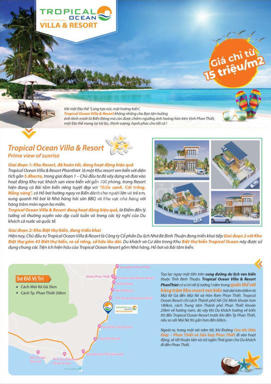 Đất nền biệt thự biển Tropical Ocean Vilas & Resort