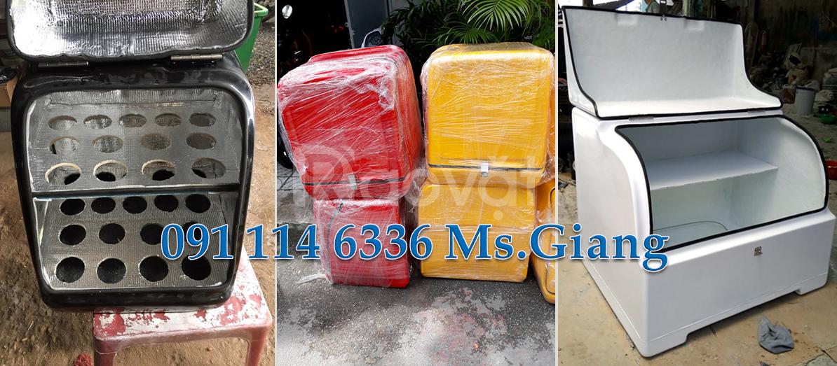 Thùng ship trà sữa giữ lạnh, giá thùng giao hàng, thùng chở hàng TPHCM
