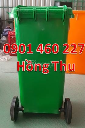 Thùng rác công cộng nhựa HDPE- có 2 bánh xe giá rẻ tại TPHCM