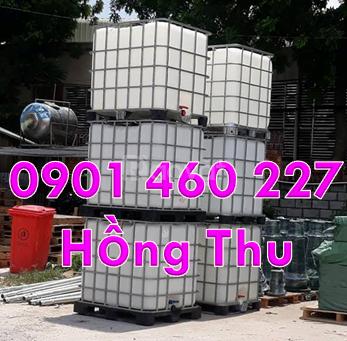 Thanh lý bồn nhựa 1000L cũ, thùng nhựa 1000 lít qua sử dụng