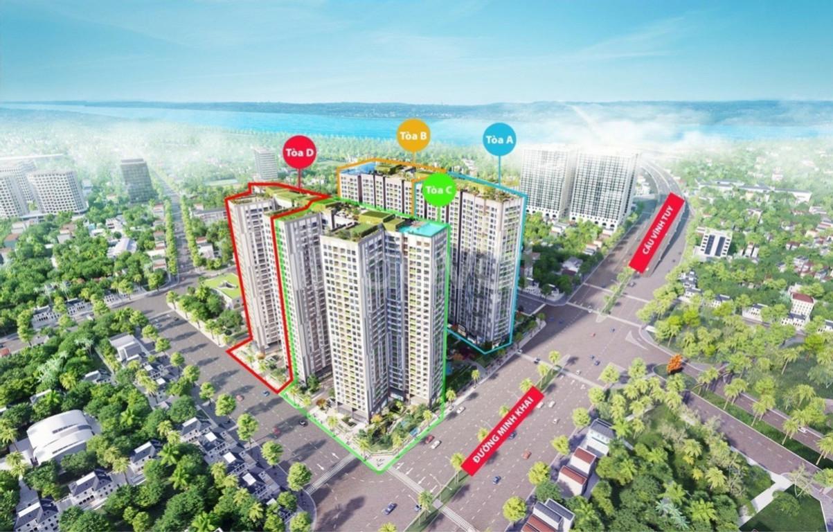 Imperia Minh Khai mở bán quỹ căn Ngoại Giao 2PN/58-75-82m2, tầng đẹp