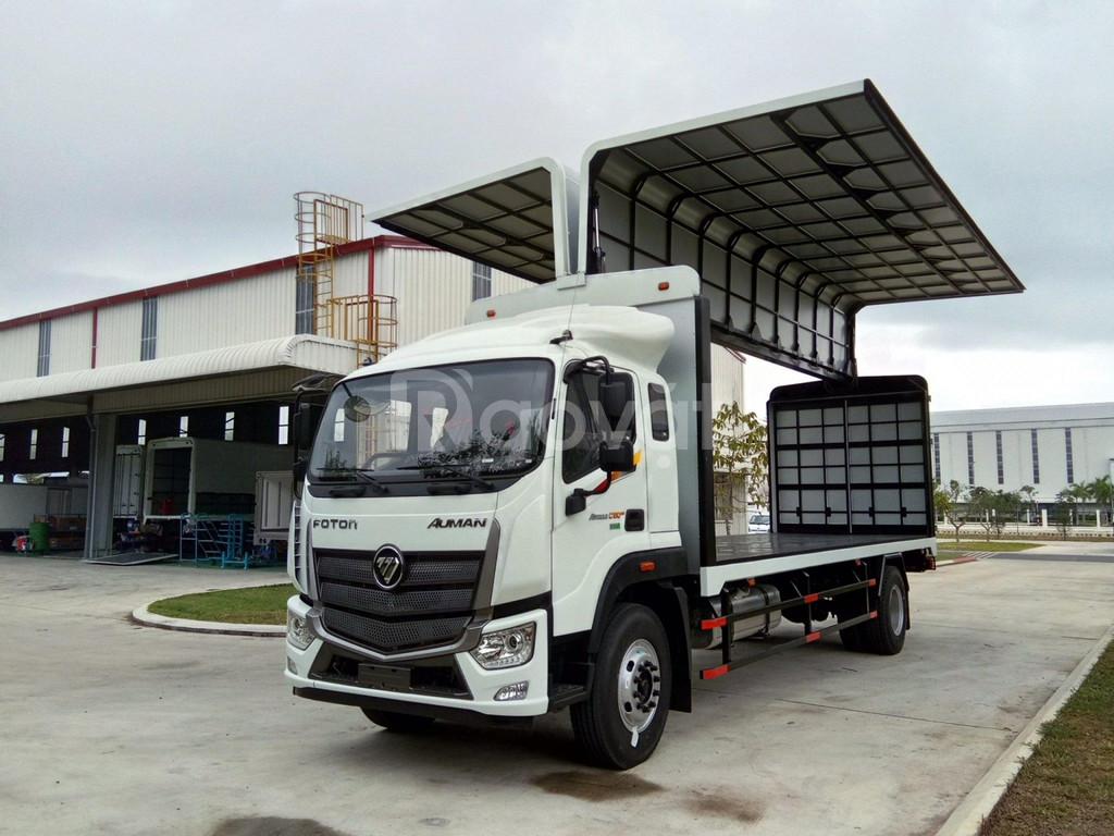 Xe tải 9 tấn thaco auman c160 thùng cánh dơi bửng nâng