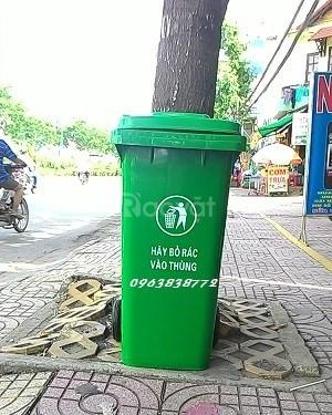Thùng rác 240 lít - thùng rác 120 lít - bán thùng nhựa đựng rác