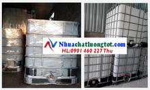 Bồn nhựa đựng hóa chất, tank nhựa ibc 1000l đựng hóa chất