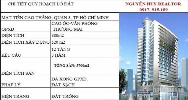 61 Cao Thắng, P2,Q3. DT: 15x59, GPXD: 3 Hầm+12 Lầu, giá: 300 tỷ (ảnh 3)