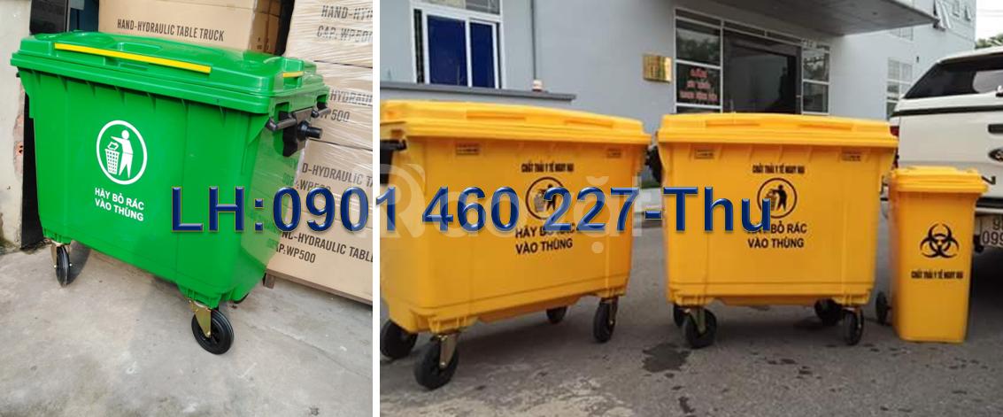 Nơi sản xuất xe thu gom rác trực tiếp tại TPHCM, thùng rác 660l-1000l