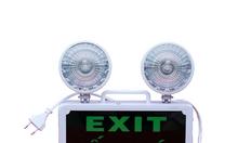 Đèn sự cố kết hợp exit LED 3W, chiếu sáng sự cố 2h
