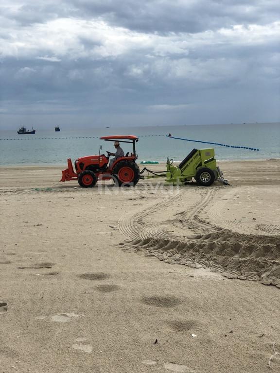 Xe cào rác bãi biển, xe dọn rác bãi biển Hbarber- Mỹ